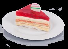 Slice Strawberry Cheese Cake